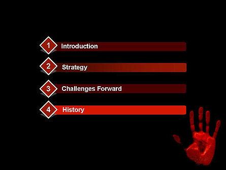 Blood Hand PowerPoint Template, Slide 3, 11640, Legal — PoweredTemplate.com