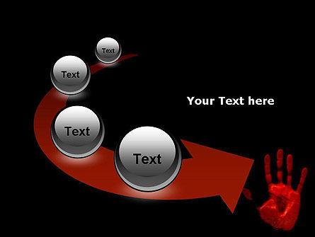 Blood Hand PowerPoint Template Slide 6