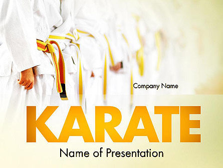 Martial Arts Training PowerPoint Template, 11641, Sports — PoweredTemplate.com