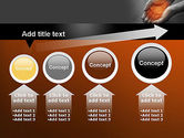 Hands with Light PowerPoint Template#13