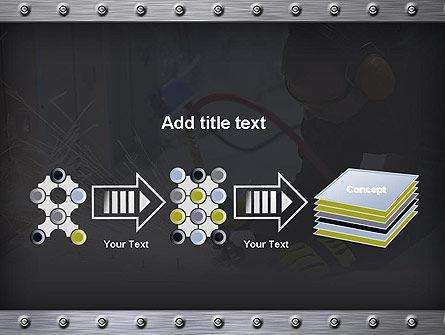 Pneumatic Grinder PowerPoint Template Slide 9