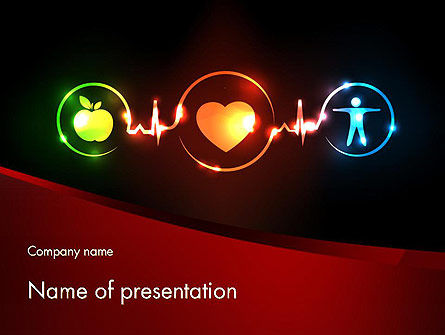 Medical: Wellness Symbol PowerPoint Template #11646