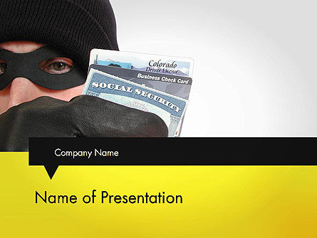 Identity Theft PowerPoint Template, 11647, Legal — PoweredTemplate.com