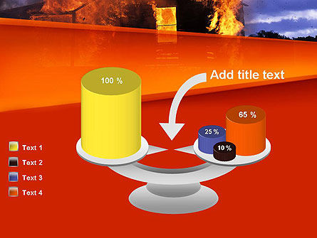 Burning House PowerPoint Template Slide 10