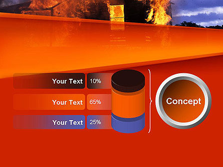 Burning House PowerPoint Template Slide 11