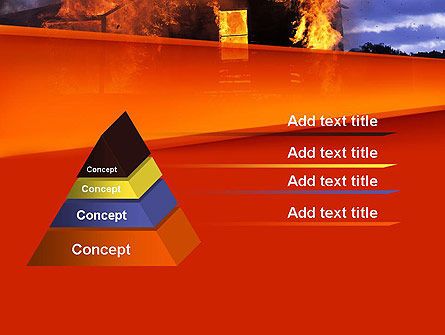 Burning House PowerPoint Template Slide 12