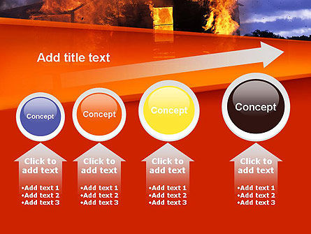 Burning House PowerPoint Template Slide 13