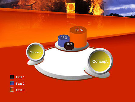 Burning House PowerPoint Template Slide 16