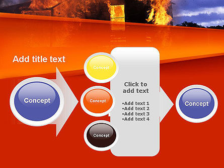 Burning House PowerPoint Template Slide 17