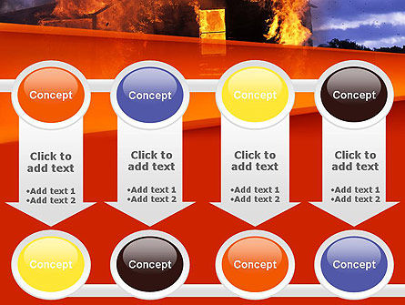 Burning House PowerPoint Template Slide 18