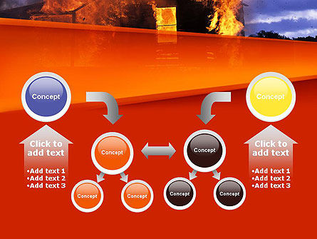 Burning House PowerPoint Template Slide 19