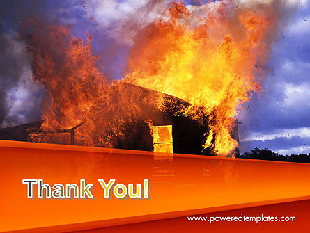 Burning House PowerPoint Template Slide 20