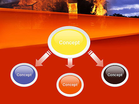 Burning House PowerPoint Template Slide 4