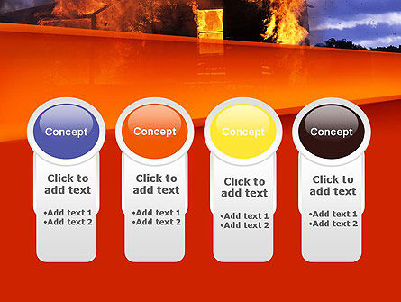Burning House PowerPoint Template Slide 5