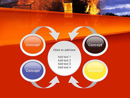 Burning House PowerPoint Template Slide 6