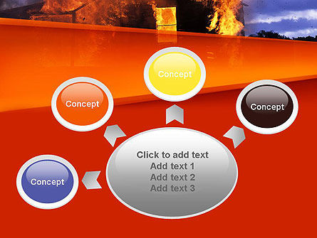 Burning House PowerPoint Template Slide 7