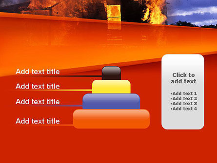 Burning House PowerPoint Template Slide 8