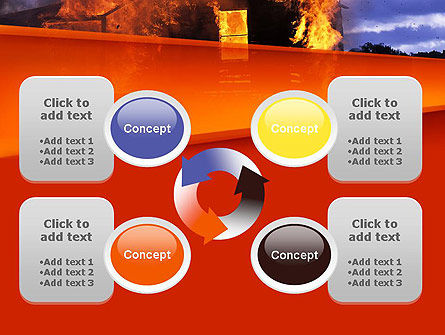 Burning House PowerPoint Template Slide 9