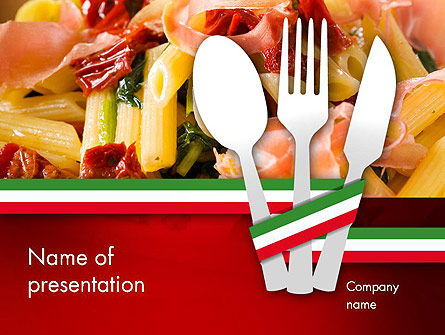 Italian Cuisine PowerPoint Template, 11650, Food & Beverage — PoweredTemplate.com