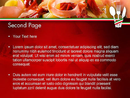 Italian Cuisine PowerPoint Template, Slide 2, 11650, Food & Beverage — PoweredTemplate.com