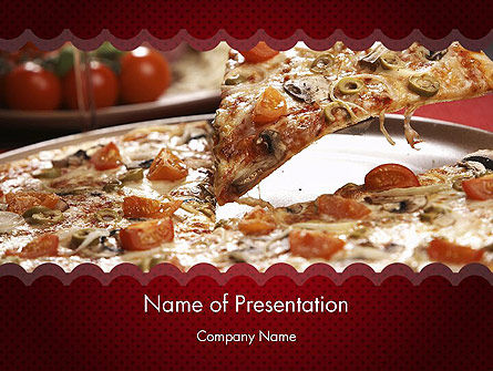 Food & Beverage: Delicious Pizza Recipes PowerPoint Template #11651