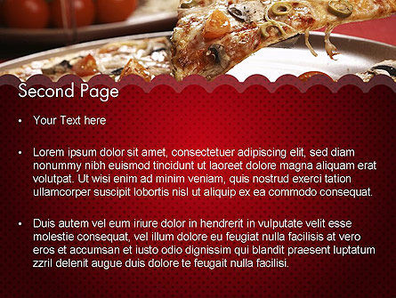Delicious Pizza Recipes PowerPoint Template, Slide 2, 11651, Food & Beverage — PoweredTemplate.com