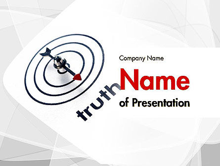 Truth Compass PowerPoint Template, 11652, Business Concepts — PoweredTemplate.com