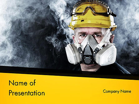 Respiratory Protection PowerPoint Template, 11655, Careers/Industry — PoweredTemplate.com