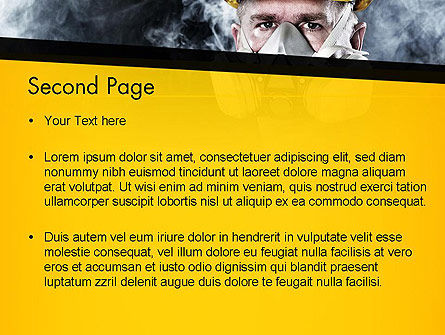 Respiratory Protection PowerPoint Template, Slide 2, 11655, Careers/Industry — PoweredTemplate.com