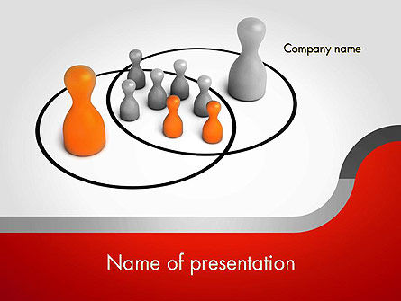 Business Concepts: Modèle PowerPoint de sphères d'influence intersection #11656