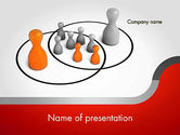 Business Concepts: Plantilla de PowerPoint - esferas de influencia intersección #11656