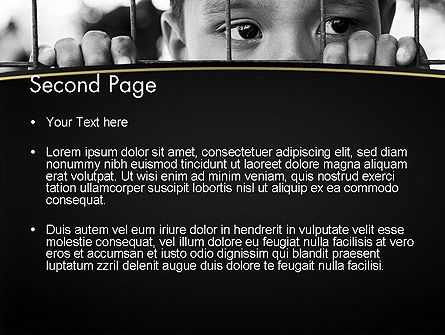 Kid Behind a Fence PowerPoint Template Slide 2