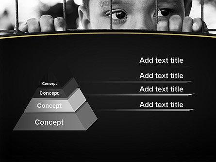 Kid Behind a Fence PowerPoint Template, Slide 4, 11657, Legal — PoweredTemplate.com