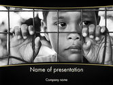 Legal: Kid Behind a Fence PowerPoint Template #11657