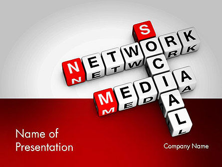 Social Media Network Crossword PowerPoint Template, 11658, Careers/Industry — PoweredTemplate.com