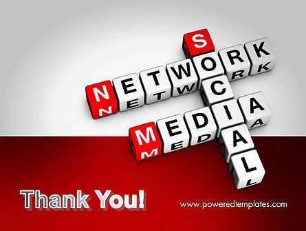Social Media Network Crossword PowerPoint Template Slide 20