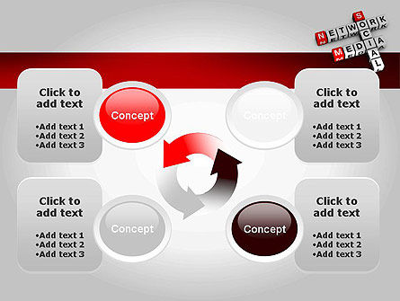 Social Media Network Crossword PowerPoint Template Slide 9