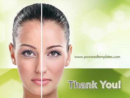 Woman Face Before and After PowerPoint Template Slide 20