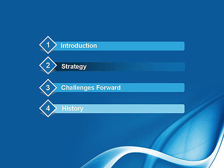 Abstract Blue Fantasy PowerPoint Template, Slide 3, 11660, Abstract/Textures — PoweredTemplate.com