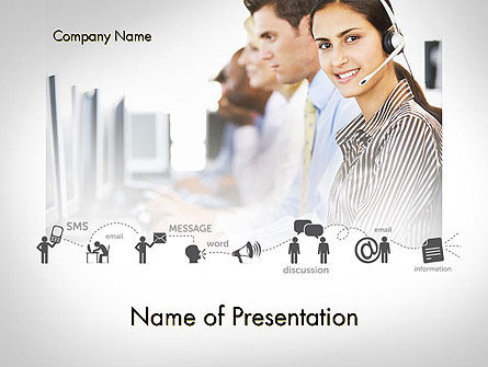 Careers/Industry: Customer Support Service PowerPoint Template #11661