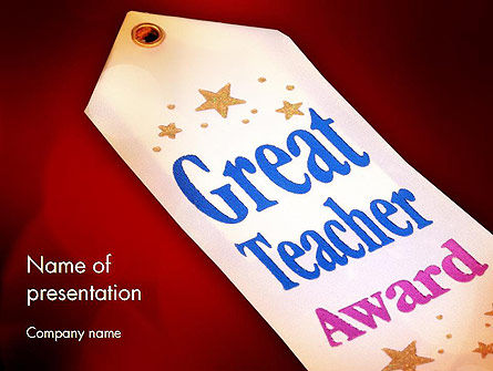 Holiday/Special Occasion: Great Teacher Award PowerPoint Template #11662