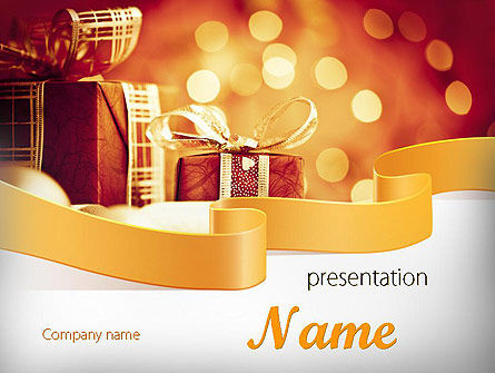 Happy Christmas PowerPoint Template, 11666, Holiday/Special Occasion — PoweredTemplate.com