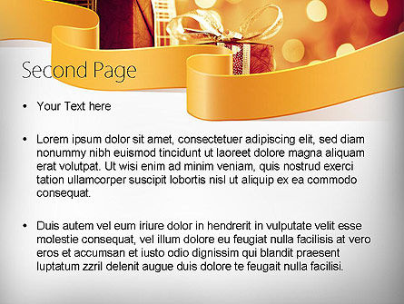 Happy Christmas PowerPoint Template, Slide 2, 11666, Holiday/Special Occasion — PoweredTemplate.com