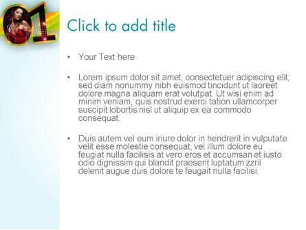 Dancing Girl PowerPoint Template, Slide 3, 11670, Art & Entertainment — PoweredTemplate.com