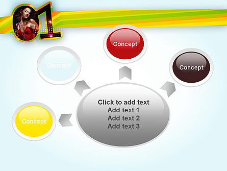 Dancing Girl PowerPoint Template Slide 7