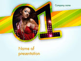 Art & Entertainment: Dancing Girl PowerPoint Template #11670