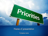 Business Concepts: Business Priorities PowerPoint Template #11671