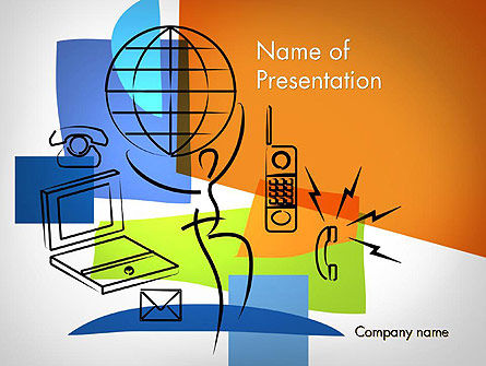 Technology and Science: Global Information Technology PowerPoint Template #11672