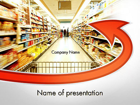 Grocery Shopping PowerPoint Template, 11673, Careers/Industry — PoweredTemplate.com