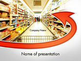 Careers/Industry: Grocery Shopping PowerPoint Template #11673